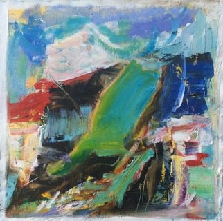 John Tierney: 'strand', 2020 Oil Painting, Abstract Landscape. Grounded yet freeflowing like walking by the sea...