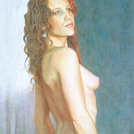John Heath: 'Astrid', 2008 Acrylic Painting, Nudes. Artist Description:  An original painting also available as a giclee print in a limited edition of 95. The watermark is not on the original painting or prints. ...