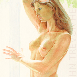 John Heath: 'Roxane', 2008 Acrylic Painting, Nudes. Artist Description:  An original painting also available as a giclee print in a limited edition of 95. The watermark is not on the original painting or prints. ...