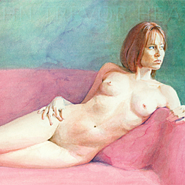 John Heath: 'Serena', 2008 Acrylic Painting, Nudes. Artist Description:  An original painting also available as a giclee print in a limited edition of 95. The watermark is not on the original painting or prints. ...
