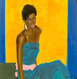 John Trimble Artwork Blue Bella, 2015 Acrylic Painting, Beauty