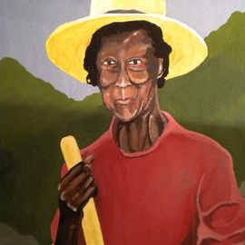 John Trimble: 'Longview', 2014 Acrylic Painting, Figurative. Artist Description:   A photo of my Great Grandmother in Longview Texas   ...