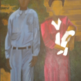 John Trimble: 'Roots', 2000 Acrylic Painting, Abstract Figurative. Artist Description:  Life in the South ...