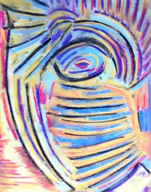 Joe Mccullagh Artwork Curved Stairway, 2014 Pastel, Abstract