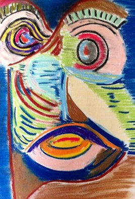 Joe Mccullagh: 'Splits', 2014 Pastel, Abstract. Artist Description:   A drawing of one of the characters of my storybook