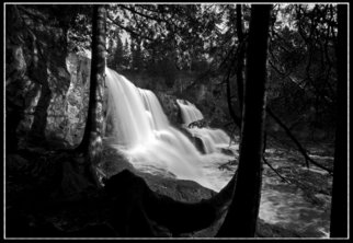 Joe Kerr: 'Goose Berry Falls', 2009 Black and White Photograph, Landscape. Goose Berry Falls at dawn is a very special place. Located on the southwestern basin of Lake Ontario in Northern Minnesota, USA. This is a limited edition print on a mat paper that renders a smooth feel to this special image.  ...