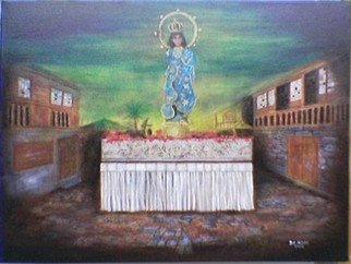 Jo Mari Montesa Artwork Carroza, 2006 Oil Painting, Religious