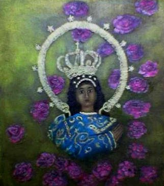 Jo Mari Montesa: 'Immaculate Concepcion IV', 2007 Oil Painting, Religious.   Oil painting on canvas.14x16 inches  ...