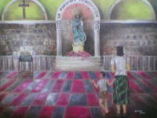 Jo Mari Montesa: 'La Purisima Concepcion', 2005 Oil Painting, Religious.  Oil painting on canvas. ...