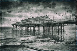 Jonathan Talks: 'cleethorpes pier', 2017 Black and White Photograph, Architecture. Artist Description: Photography: Digital, Black   White and Photo on Paper.Cleethorpes Pier, LincolnshirePhotography: 20aEUR X 14aEUR Archival print signed by the artist.ORIGINAL PRINT - Limited Edition of 25 Crafted Prints  ultraHD Photo Print on Fuji Crystal DP II  Cleethorpes Pier is a pleasure pier in the town of Cleethorpes, ...