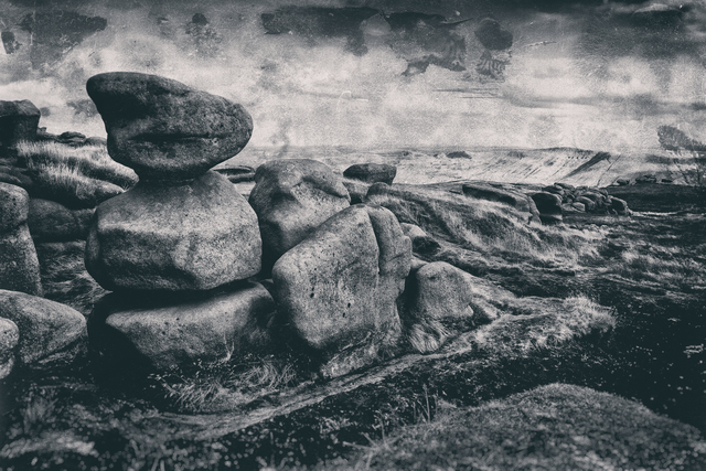 Jonathan Talks: kinder scout edale, 2017 Black and White Photograph