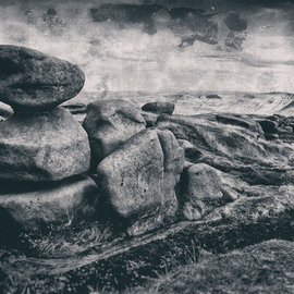 Jonathan Talks: 'kinder scout edale', 2017 Black and White Photograph, Landscape. Artist Description: Photography: Black   White, Digital and Photo on Other.Photography: 24aEUR X 16aEUR Archival print Kinder Scout is a moorland plateau and National Nature Reserve in the Dark Peak of the Derbyshire Peak District in England. Part of the moor, at 636 metres  2,087 ft  above sea level, ...
