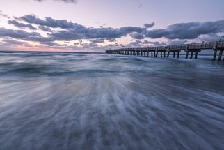 Jon Glaser: 'A little Closer', 2014 Color Photograph, Seascape. Artist Description:    Located in Lake Worth, Florida, this  pier is a favorite spot for fishing.This image is available in the following sizes13x19 lustre photographic paper16x24 lustre photographic paper               ...