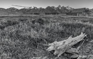 Jon Glaser: 'Heavy Lumbar', 2012 Black and White Photograph, Landscape. Artist Description:  This photograph was taken In Teton National Park at the Mormon Barns.limited to 9 artist proof editions in a particular size. They will be signed and numbered on the back of the image.All images are available in the following sizes: 13x19 unframed on Luster photographic paper - ...