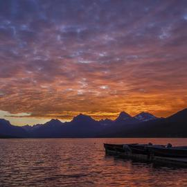 Jon Glaser: 'Morning Light', 2011 Color Photograph, Landscape. Artist Description: This sunrise was photographed at Lake McDonald in Glacier National Park.  ...