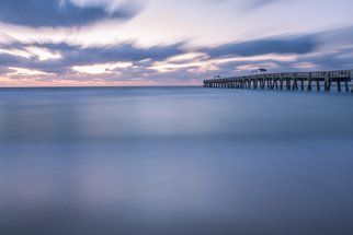 Jon Glaser: 'Moving along the Pier', 2014 Color Photograph, Landscape. Artist Description:    Located in Lake Worth, Florida, this  pier is a favorite spot for fishing.This image is available in the following sizes13x19 lustre photographic paper16x24 lustre photographic paper               ...