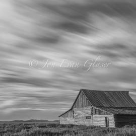 Jon Glaser: 'Not in Kansas Anymore', 2012 Black and White Photograph, Landscape. Artist Description: This barn was photographed in Teton National Park in Wyoming....