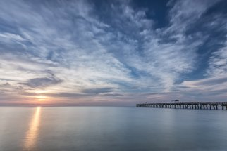 Jon Glaser: 'Outside Today', 2014 Color Photograph, Landscape. Artist Description:   Located in Lake Worth, Florida, this pier is a favorite spot for swimming and fishing.This image is available in the following sizes13x19 lustre photographic paper16x24 lustre photographic paper                    ...