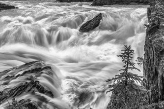 Jon Glaser Artwork Power Stream, 2013 Black and White Photograph, Landscape