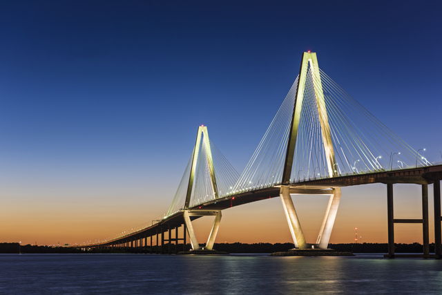 Jon Glaser Ravenel Bridge at Twilight 2016