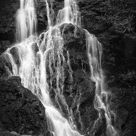 Jon Glaser: 'Smokey Waterfall ', 2012 Black and White Photograph, Landscape. Artist Description: This waterfall was photographed in Smokey Mountain National Park. This image is mounted on Plexi- glass and is ready to ship.Priced to sell!...