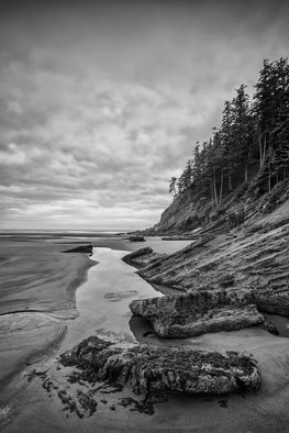 Jon Glaser: 'Soul without Color', 2012 Black and White Photograph, Landscape. Artist Description:  I took this photograph at Smuggler' s Cove in along the coast in Oregon.limited to 9 artist proof editions in a particular size. They will be signed and numbered on the back of the image.All images are available in the following sizes: 13x19 unframed on ...