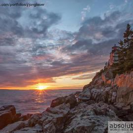 Jon Glaser: 'The Harbor Dusk', 2012 Color Photograph, Landscape. Artist Description:  This image was taken at Bass Harbor Lighthouse in Maine...