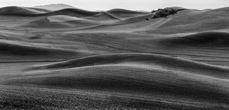 Jon Glaser: 'The Hills Speak II', 2016 Black and White Photograph, Nature. Artist Description:  This photograph was taken in a south east washington in a region called the Palouse. It is known as