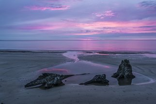 Jon Glaser: 'Three Minute Sunrise', 2016 Color Photograph, Seascape. Artist Description:  While on Jekyll Island in Georgia, I happen to capture a sunrise with color. The sky was overcast and did not appear to warrant a colorful sunrise. However, 3 minutes before the sun cleared the horizon, the clouds parted briefly so reveal some amazing colors.This limited- edition ...