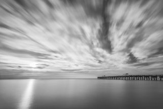 Jon Glaser: 'Touch the Clouds', 2014 Color Photograph, Landscape. Artist Description:  Located in Lake Worth, Florida, this pier is a favorite spot for swimming and fishing.This image is available in the following sizes13x19 lustre photographic paper16x24 lustre photographic paper                   ...