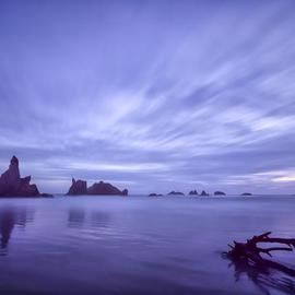 Jon Glaser: 'Violet Vista', 2012 Color Photograph, Landscape. Artist Description: I photographed this beach scene in Oregon near Bandon....