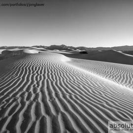 Jon Glaser: 'Waves in the distance', 2012 Black and White Photograph, Landscape. Artist Description: I took this image at Mesquite Flat Dunes in Death Valley National Park  ...