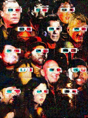 John Lijo Artwork Cult Movie Art Expendables, 2013 Collage, Abstract