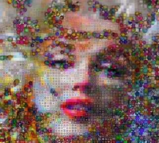 John Lijo Artwork Marilyn Monroe Pop Galaxy, 2011 Collage, Pop