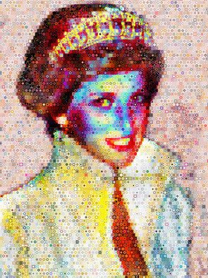 Collage by John Lijo titled: Princess Diana Collage, 2010
