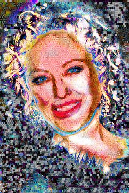 Collage by John Lijo titled: Virginia Madsen Abstract Collage, 2009