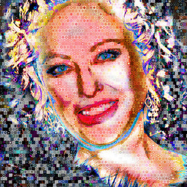 John Lijo Artwork Virginia Madsen Abstract Collage, 2009 Collage, Abstract