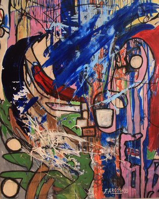 Jorge Arcos: 'Magical dance', 2009 Acrylic Painting, Abstract. An abstract expressionist acrylic painting on canvas.   ...