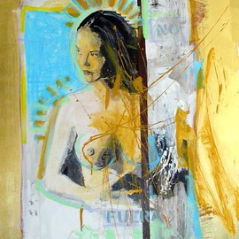 Jorge Espinosa Artwork Si fuera, 2006 Acrylic Painting, Nudes