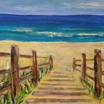 beach scene nsw no 1 By Eve Jorgensen