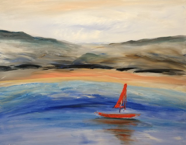 Eve Jorgensen  'Sailing No 4', created in 2021, Original Painting Acrylic.