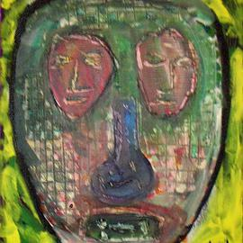 J Osl Artwork Five faces of depression, 2011 Acrylic Painting, New Age
