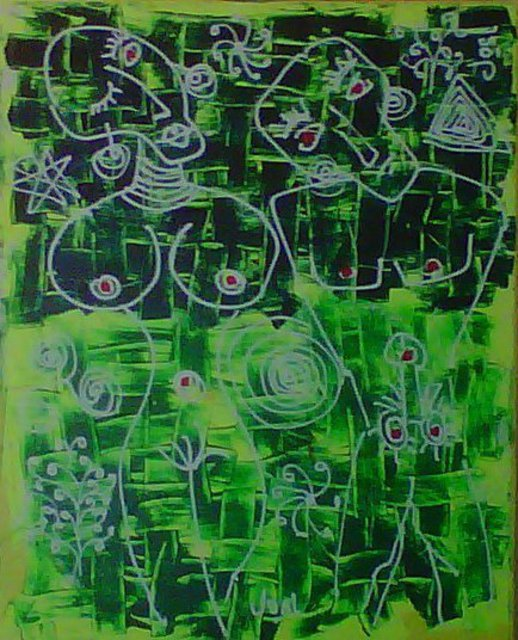 J Osl  'Soulmates 1', created in 2012, Original Painting Acrylic.