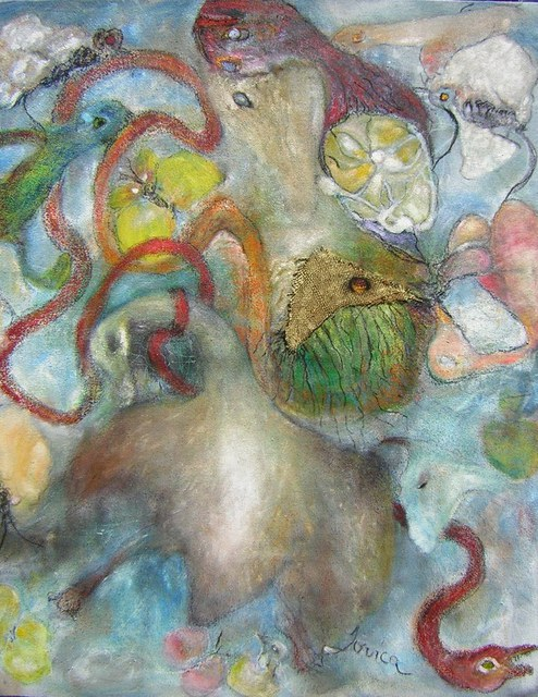 Jovica Vucinic  'Getting Worser 3', created in 2007, Original Pastel Oil.