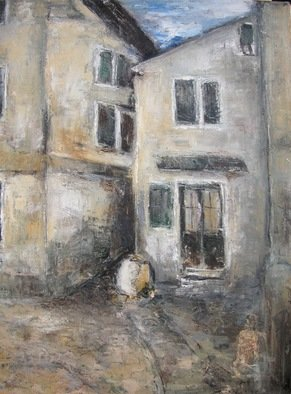 Jovica Vucinic Artwork Rovinj  II, 2003 Oil Painting, Cityscape