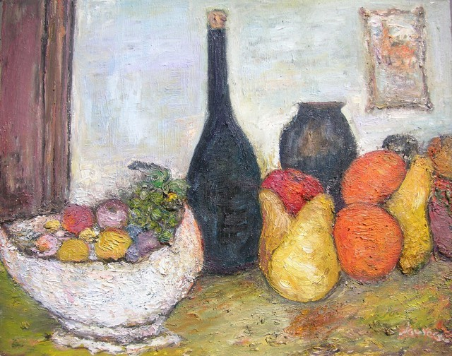 Artist Jovica Vucinic. 'Still Life No, 6' Artwork Image, Created in 2005, Original Pastel Oil. #art #artist