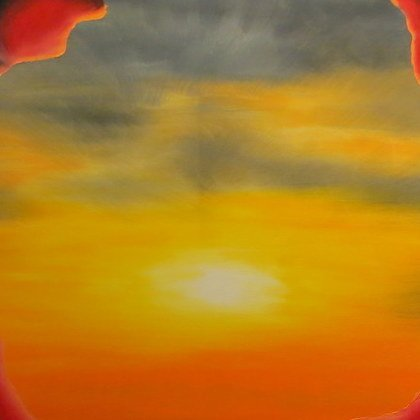 , Two Figures With Clouds 6, Abstract Figurative, $525