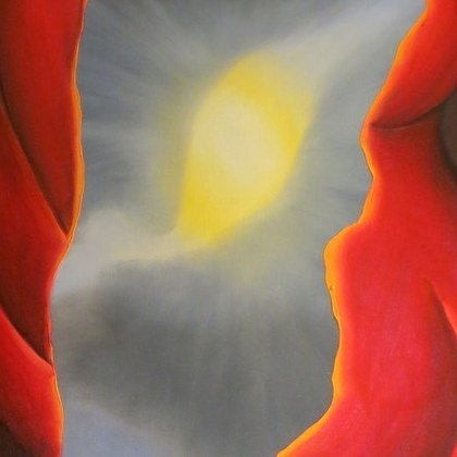 , Two Figures With Clouds 2, Abstract Figurative, $525