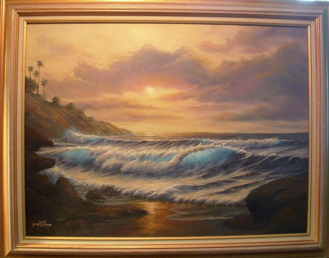 Joseph Porus  'A Sunset To Remember', created in 2001, Original Painting Oil.