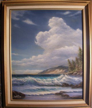 Joseph Porus: 'California Seascape', 1998 Oil Painting, Beach.      Oil on fine canvas.  ...